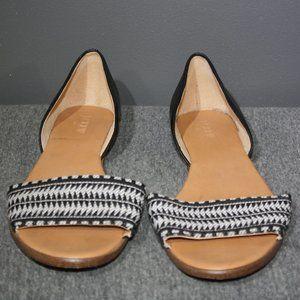 Women's J. Crew Woven Strap Flat Peep Toe Sandal
